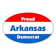 Proud Arkansas Democrat Oval Decal