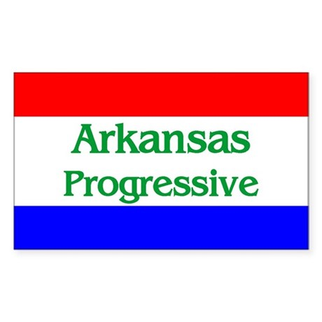 Arkansas Progressive Rectangle Sticker