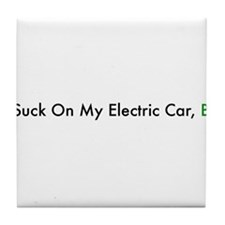 Cute Electric vehicle Tile Coaster