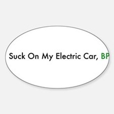 Cute Electric vehicle Sticker (Oval)