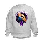 I Will Survive Pancreatic Cancer Kids Sweatshirt