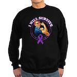 I Will Survive Pancreatic Cancer Sweatshirt (dark)
