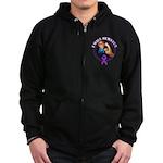 I Will Survive Pancreatic Cancer Zip Hoodie (dark)
