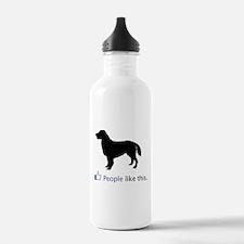 Flat-Coated Retriever Water Bottle
