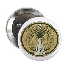 "Buddha and the Bodhi Tree 2.25"" Button"