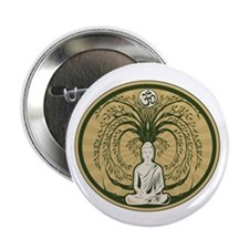 """Buddha and the Bodhi Tree 2.25"""" Button (10 pack)"""