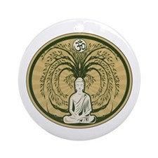 Buddha and the Bodhi Tree Ornament (Round)