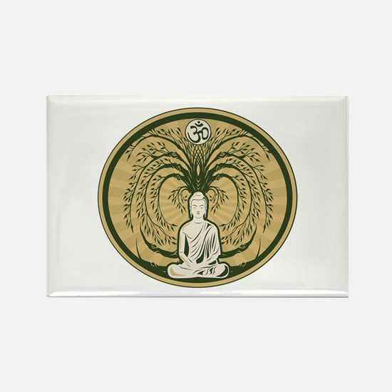 Buddha and the Bodhi Tree Rectangle Magnet