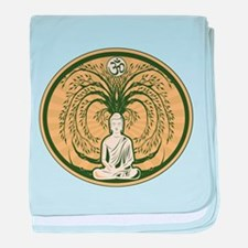 Buddha and the Bodhi Tree baby blanket
