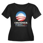 Obummer Burden Women's Plus Size Scoop Neck Dark T