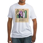 Doodlio Attacks! Fitted T-Shirt