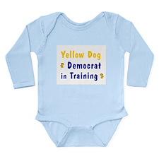 Yellow Dog Dem in Training Long Sleeve Infant Body
