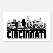 Cincinnati Skyline Bumper Stickers