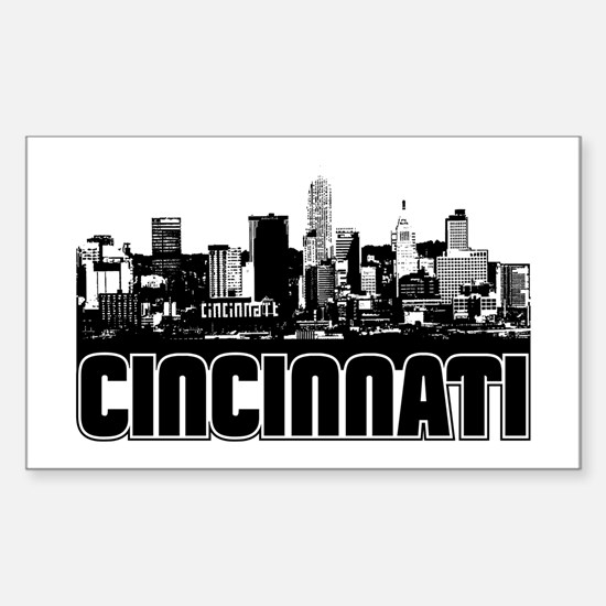Cincinnati Skyline Sticker (Rectangle)