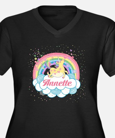 Unicorn and Rainbow Personalized Plus Size T-Shirt