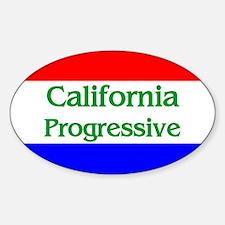 California Progressive Oval Decal