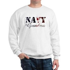 Navy Grandma Flag Sweatshirt