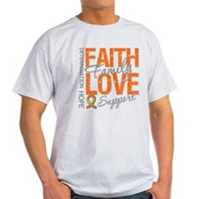 Leukemia Faith Family T-Shirt