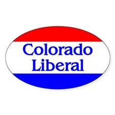 Colorado Liberal Oval Decal
