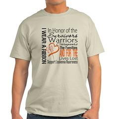 Leukemia Tribute Collage Light T-Shirt