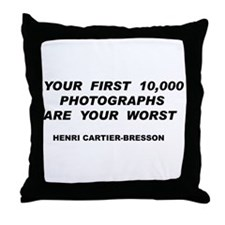 Your First 10,000 Photographs Throw Pillow