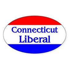 Connecticut Liberal Oval Decal