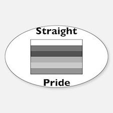 Cute Heterosexual Sticker (Oval)
