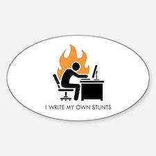 Write My Own Stunts Sticker (Oval)