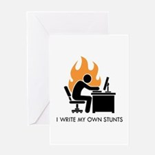 Write My Own Stunts Greeting Card