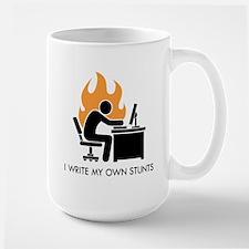 Write My Own Stunts Large Mug