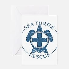 Sea Turtle Rescue Greeting Card