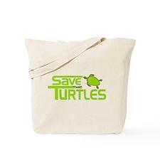 Save the Turtles Tote Bag
