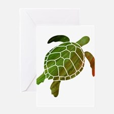 Swimming Turtle Greeting Card