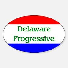 Delaware Progressive Oval Decal