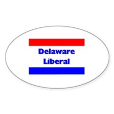 Delaware Liberal Oval Decal