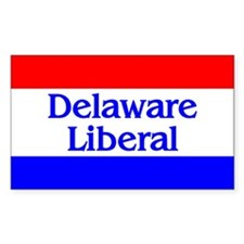 Delaware Liberal Rectangle Decal
