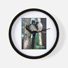 Ruffed Lemur Photo Wall Clock