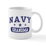 Navy grandma Coffee Mugs