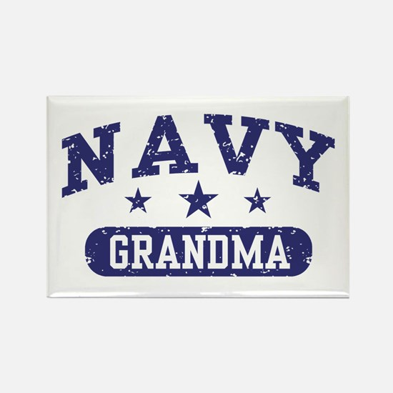 Navy Grandma Rectangle Magnet
