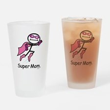 Mothers Day Super Mom Drinking Glass