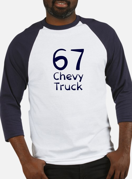 blue 67 chevy truck Baseball Jersey