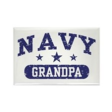 Navy Grandpa Rectangle Magnet