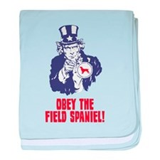 Field Spaniel baby blanket