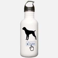 German Wirehaired Pointer Sports Water Bottle