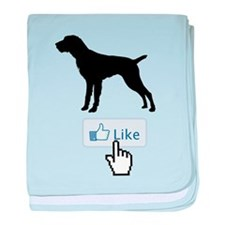 German Wirehaired Pointer baby blanket