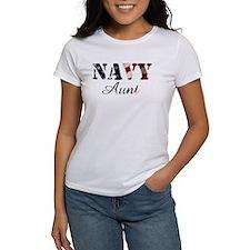 Navy Aunt Flag Tee