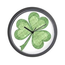 Vintage Shamrock Wall Clock