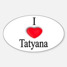 Tatyana Oval Decal