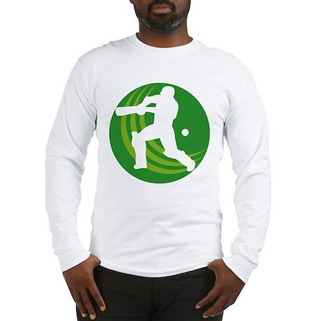 cricket sports batsman Long Sleeve T-Shirt
