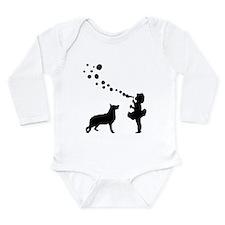 German Shepherd Dog Long Sleeve Infant Bodysuit